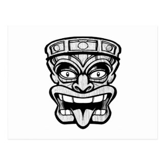 arte del hawaiian de la máscara del tiki postal