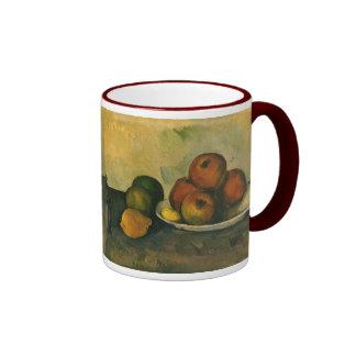 Arte del impresionismo, aún manzanas de la vida w taza de dos colores