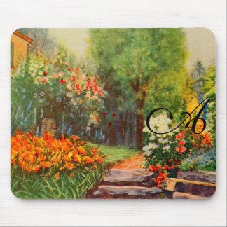 Arte del jardín del vintage - Steele, delegado de Alfombrilla De Ratón