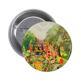 Arte del jardín del vintage - Steele, delegado de Chapa Redonda 5 Cm