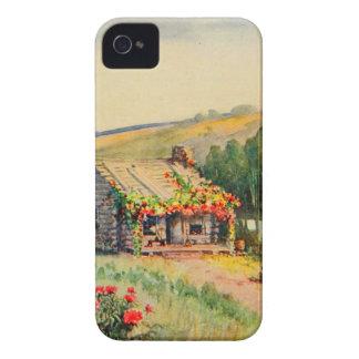 Arte del jardín del vintage - Steele, delegado de iPhone 4 Case-Mate Cobertura