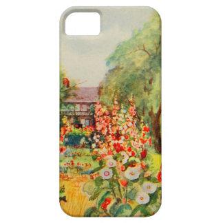 Arte del jardín del vintage - Steele, delegado de iPhone 5 Case-Mate Cárcasa