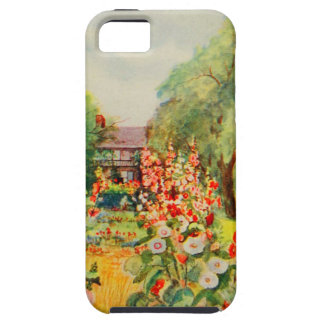 Arte del jardín del vintage - Steele, delegado de iPhone 5 Case-Mate Carcasas
