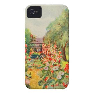 Arte del jardín del vintage - Steele delegado de Case-Mate iPhone 4 Fundas