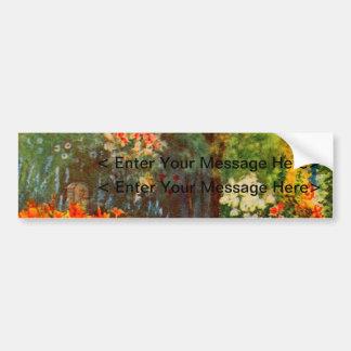 Arte del jardín del vintage - Steele delegado de Etiqueta De Parachoque