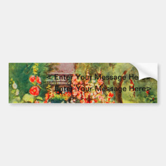 Arte del jardín del vintage - Steele delegado de Pegatina De Parachoque