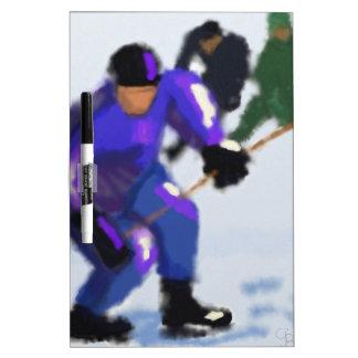 Arte del juego del hockey pizarra blanca
