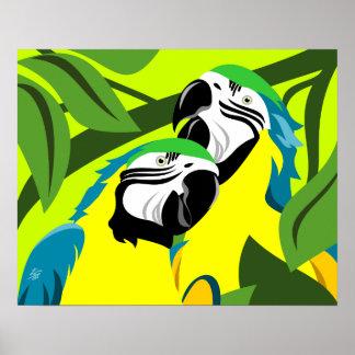 Arte del Macaw del azul y del oro