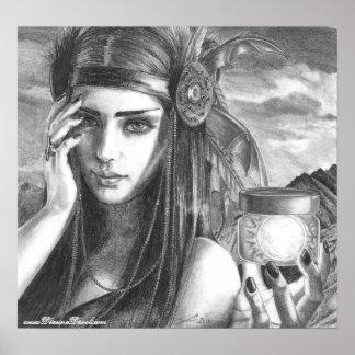 Arte del nativo americano del poster de la diosa