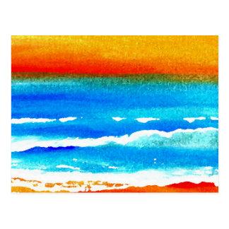 Arte del océano de CricketDiane de la playa de la Postal