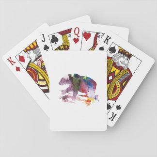 Arte del oso barajas de cartas