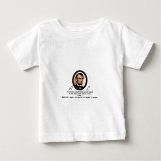 Arte del óvalo de Lincoln Camiseta De Bebé