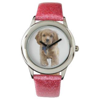 Arte del perrito reloj de pulsera