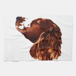 Arte del perro de aguas de saltador galés paño de cocina