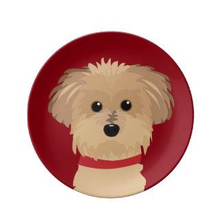 Arte del perro de Terrier Plato De Cerámica