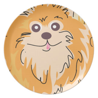 Arte del perro del perro de Pomerania de Pomerania