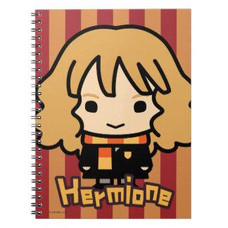 Arte del personaje de dibujos animados de Hermione Cuadernos