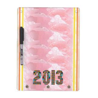 Arte del pétalo color de rosa del rocío de 2013 pizarras blancas