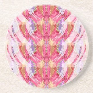 Arte del pétalo color de rosa posavasos diseño