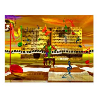 Arte del piano postal