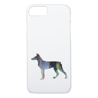 Arte del Pinscher del Doberman Funda Para iPhone 8/7
