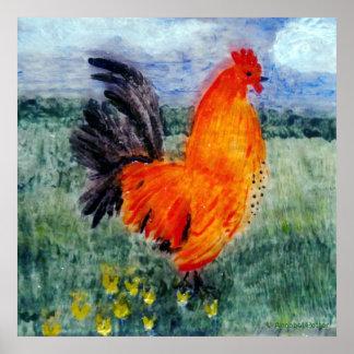 Arte del pollo del gallo