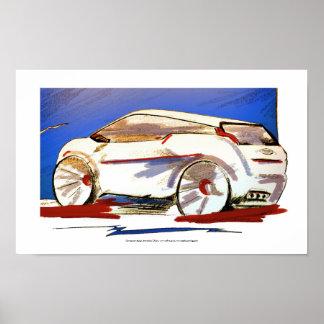 Arte del poster del diseño del coche del concepto