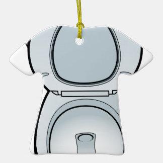 Arte del retrete del cuarto de baño adorno de cerámica en forma de camiseta