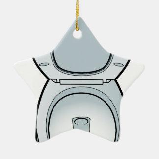Arte del retrete del cuarto de baño adorno de cerámica en forma de estrella