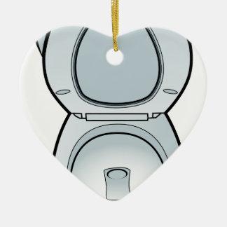 Arte del retrete del cuarto de baño adorno de cerámica en forma de corazón