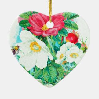 arte del rosa de té adorno de cerámica