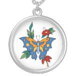 Arte del tatuaje de la flor de mariposa del vintag joyerías