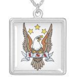 Arte del tatuaje de los E.E.U.U. Eagle del vintage Pendiente Personalizado