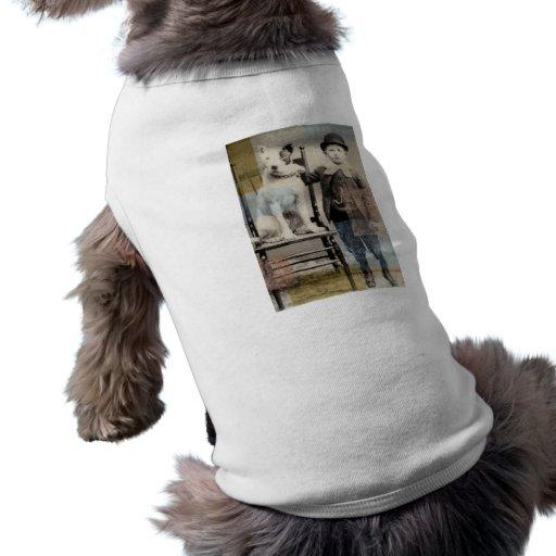 arte del terrier del pitbull/del amstaff del vinta camisa de perrito