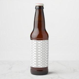 Arte del texto ASCII del punto del Nordic de la Etiqueta Para Botella De Cerveza