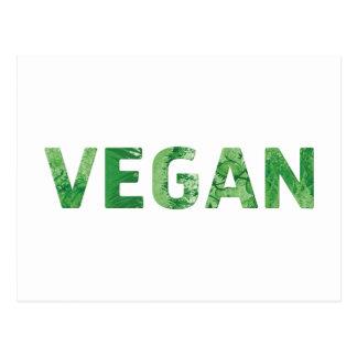 Arte del texto del vegano - cita feliz postal