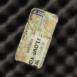 arte del vector del amor del vintage funda de iPhone 6 tough