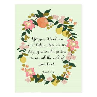Arte del verso de la biblia - 64:8 de Isaías Postal