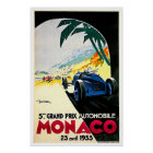 Arte del viaje de la carrera de coches de Mónaco G