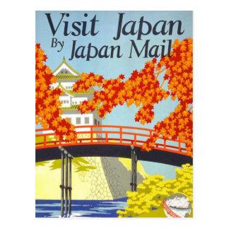 Arte del viaje del vintage de Japón de la visita Postal