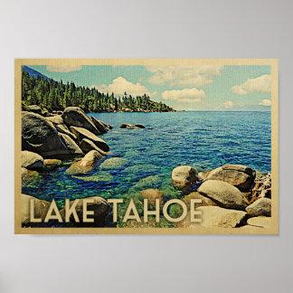 Arte del viaje del vintage del poster del lago