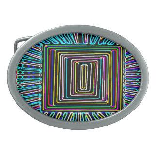Arte del viaje espacial - botón invisible de la mo hebilla cinturon oval