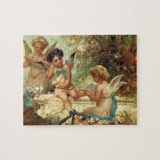 Arte del Victorian, ángeles del músico de Hans Puzzle