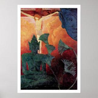 Arte del vintage de Buda y de Cristo de Paul Ranso Poster
