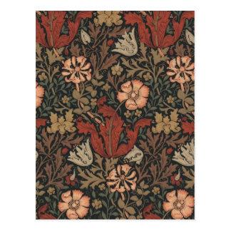 Arte del vintage del diseño floral de William Postal