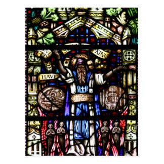 Arte del vitral de Isaías del profeta Tarjeta Postal