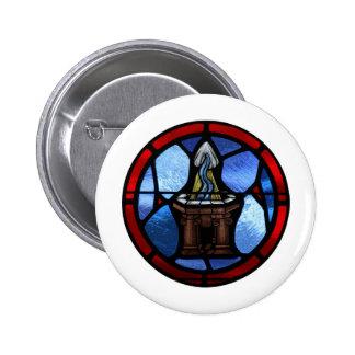 Arte del vitral del bautismo pins