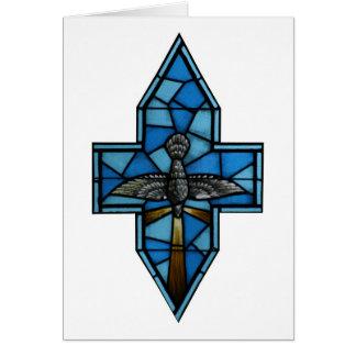 Arte del vitral del Espíritu Santo Tarjeta De Felicitación