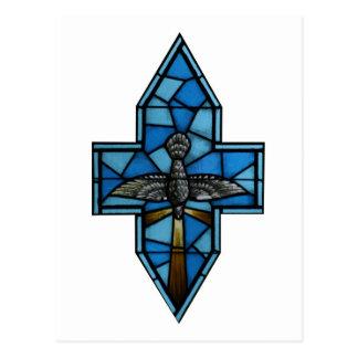 Arte del vitral del Espíritu Santo Tarjeta Postal
