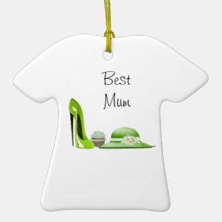 Arte del zapato, de la magdalena y del gorra del adorno de cerámica en forma de camiseta
